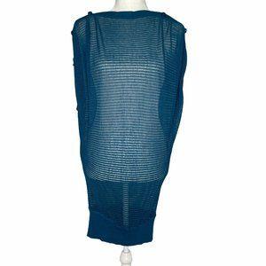Peppe Peluso Sweater Blue Sheer Dress